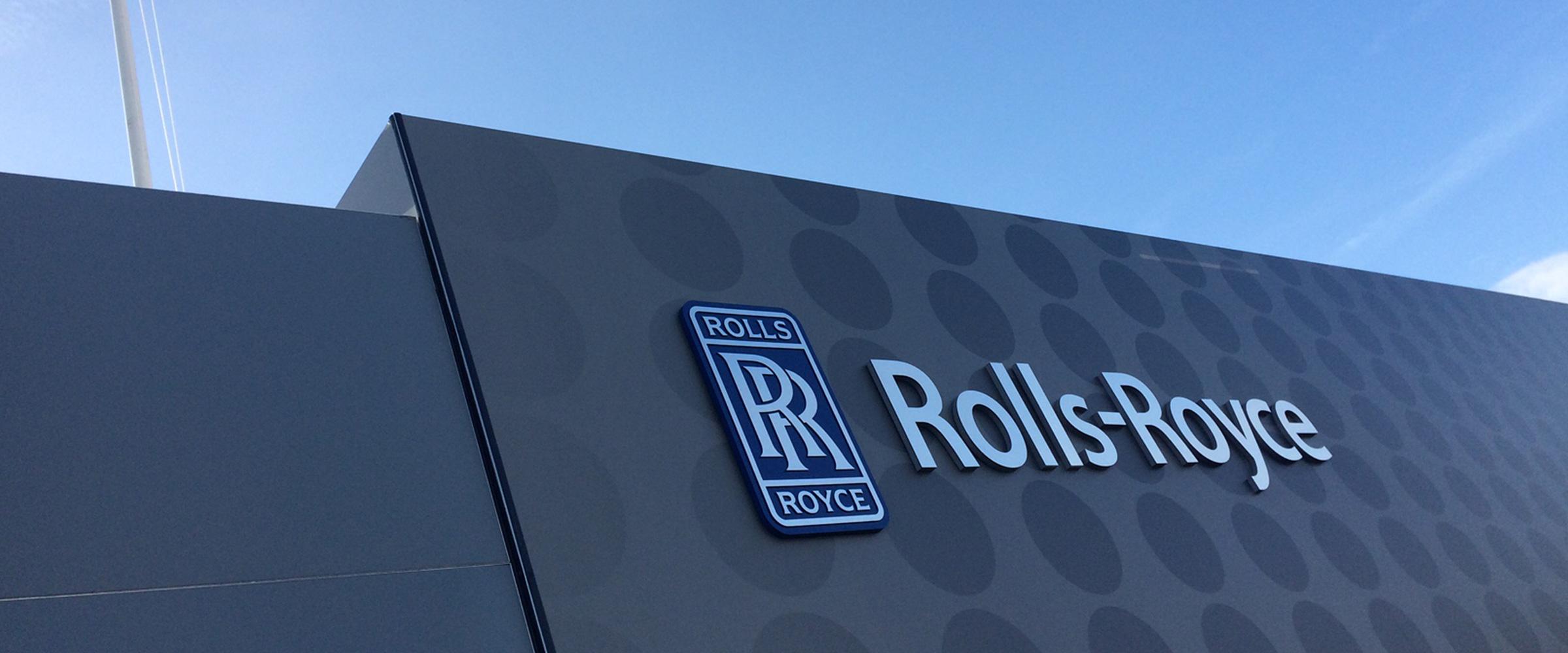 Rolls-Royce branding installed by Rocket Graphics