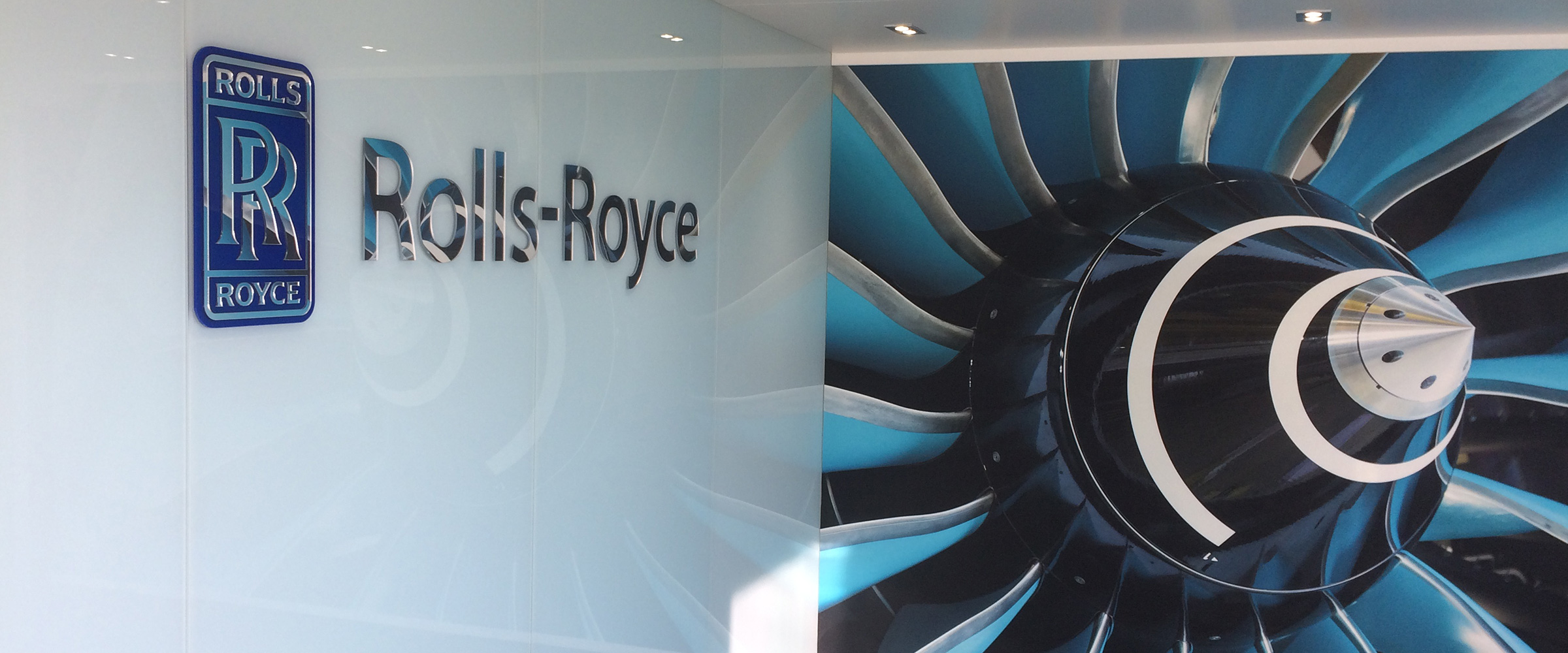 Rolls Royce structure produced and installed by Rocket Graphics