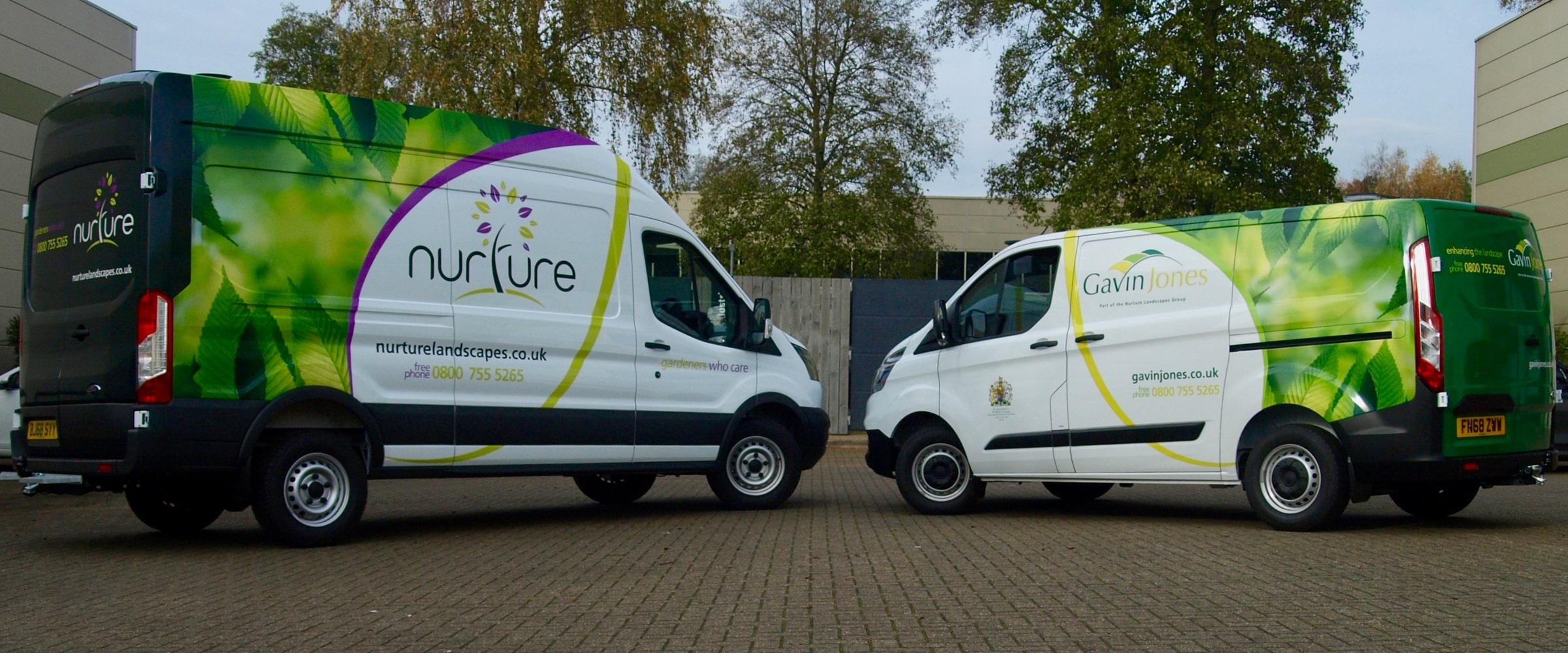 Nuture Landscapes branded vehicles