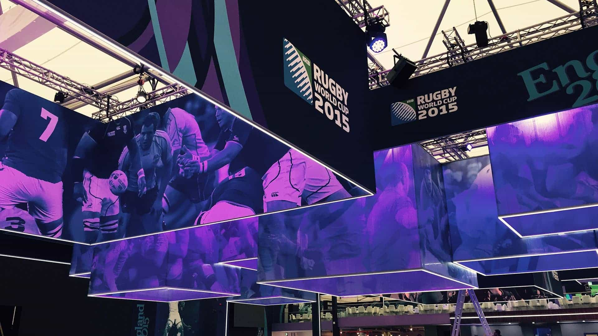 Rugby World Cup 2015 Sports Signage TFS Hanging Structures