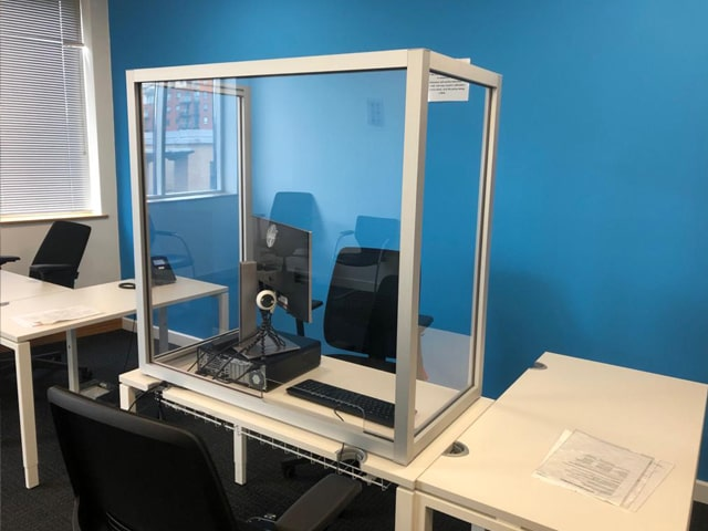 Social distancing office desk partitions