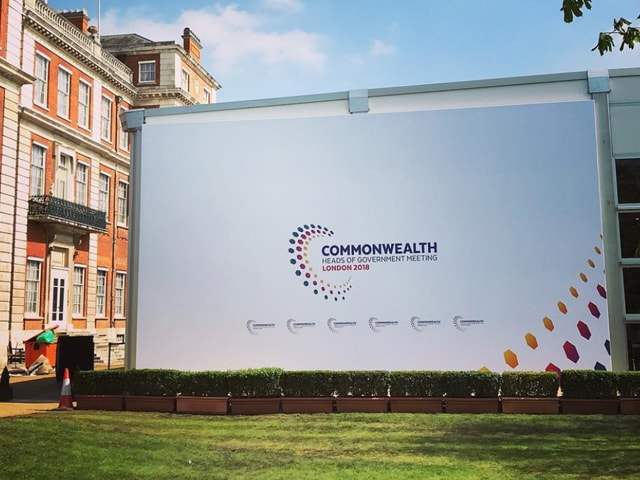 Large Format Building Wrap Installed in London by Rocket Graphics for Commonwealth Games