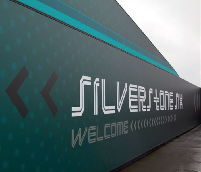 Large Format Printed Signage at Silverstone