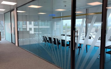 VISA offices window graphics