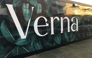 Construction Site Hoarding Boards Installed at Verna in Acton Gardens New Development in London